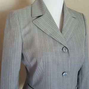 Kasper gray pinstriped blazer